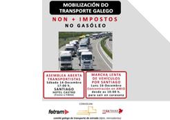 El transporte gallego se moviliza contra el céntimo sanitario