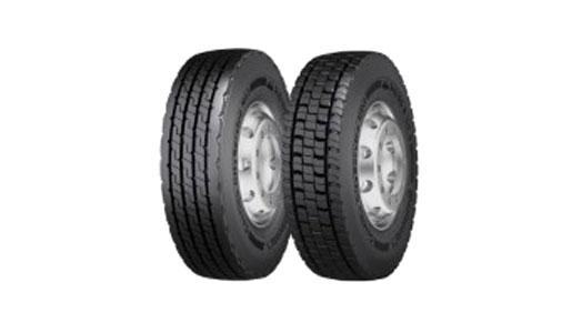 Neumático recauchutado Continental para la recogida de basuras