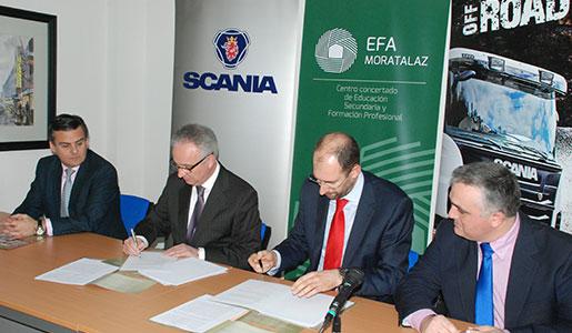 Scania firma un acuerdo para impartir formación profesional