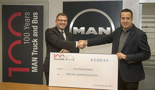 MAN dona 3.500 a Cruz Roja