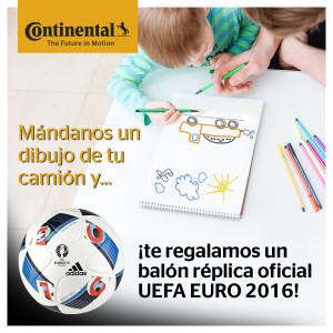 Continental neumáticos vehículos comerciales inicia un concurso a través de su perfil en facebook para promocionar sus redes a la vez que la UEFA Europe 2016 del que es patrocinador