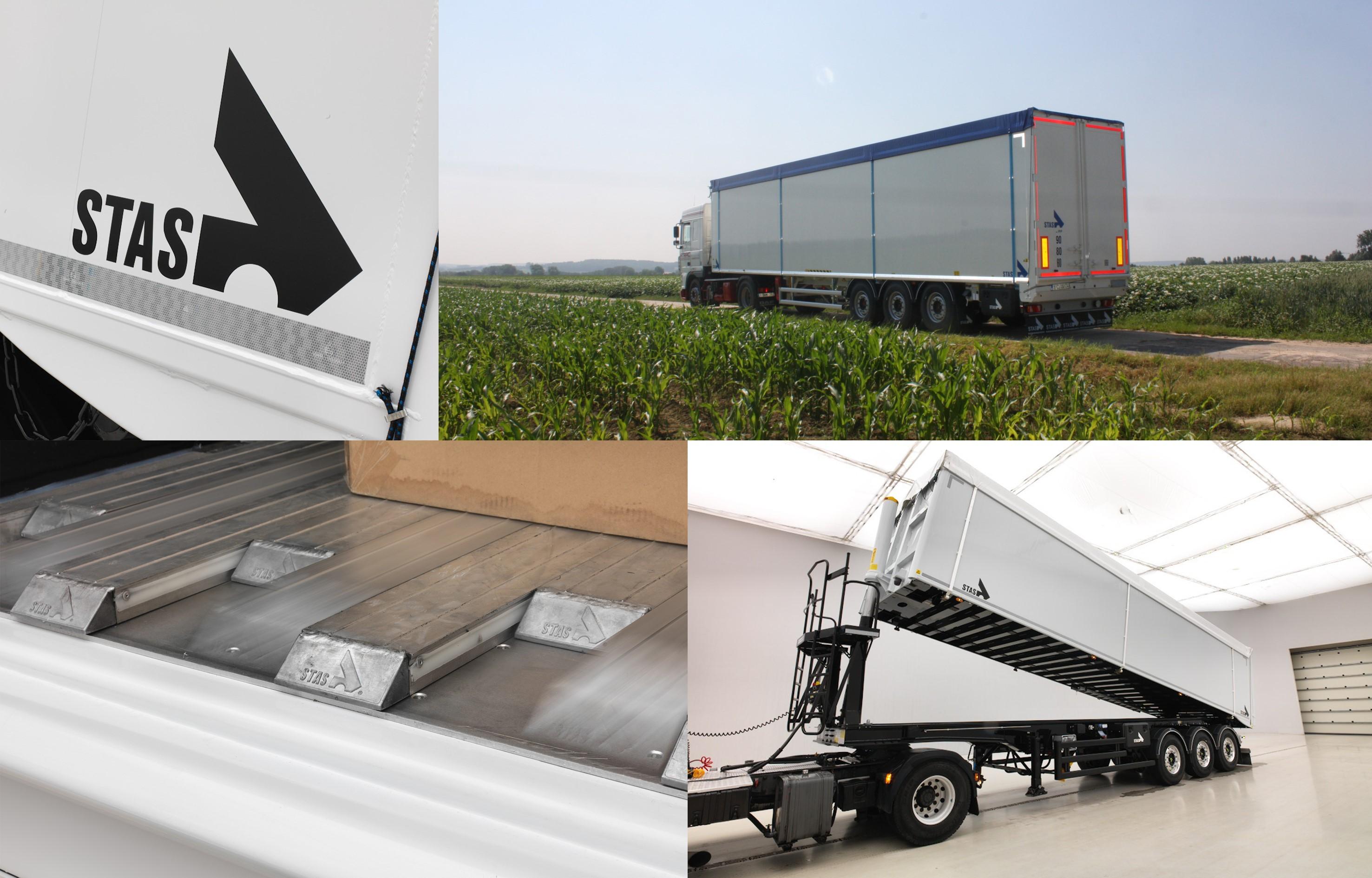 Los semirremolques basculantes de aluminiio STAS disponibles en España gracias a CDT Trailers.