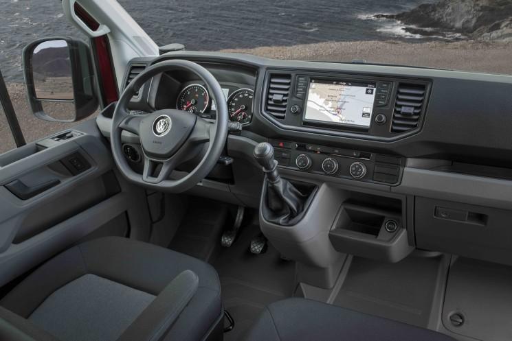 Interior de la nueva Crafter de Volkswagen