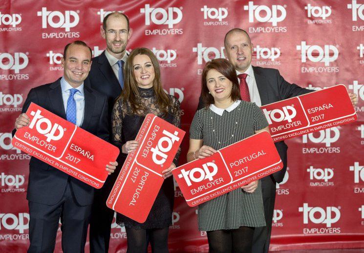 Scania Ibérica ha sido certificada como una de las mejores empresas para trabajar por el organismo independiente Top Employers Institute
