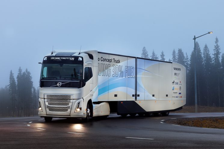 Volvo incluye la cadena cinemática híbrida en su concetp truck para el transporte de larga distancia