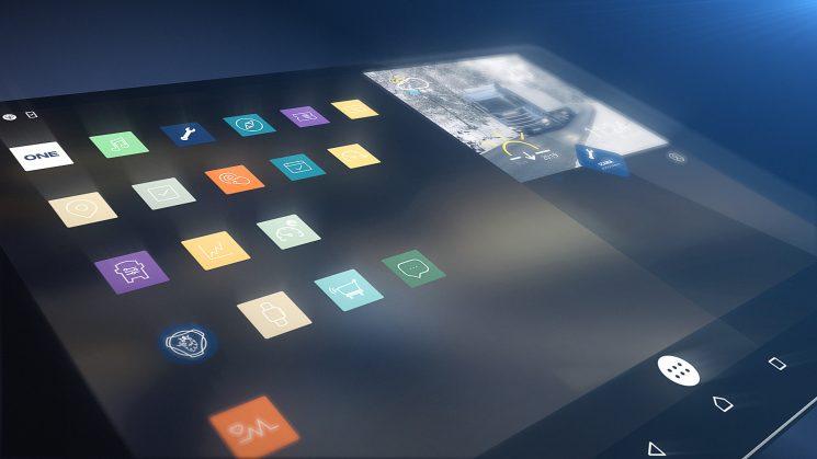 Nuevo plataforma digital Scania One compatible con sistemas de terceros a través de una tablet Android