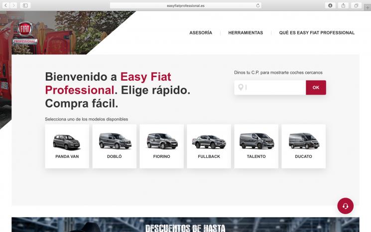 Fiat Professional pone en marcha la web easyfiatprofessional.es para la compra sencilla y rápida de vehículos comerciales.