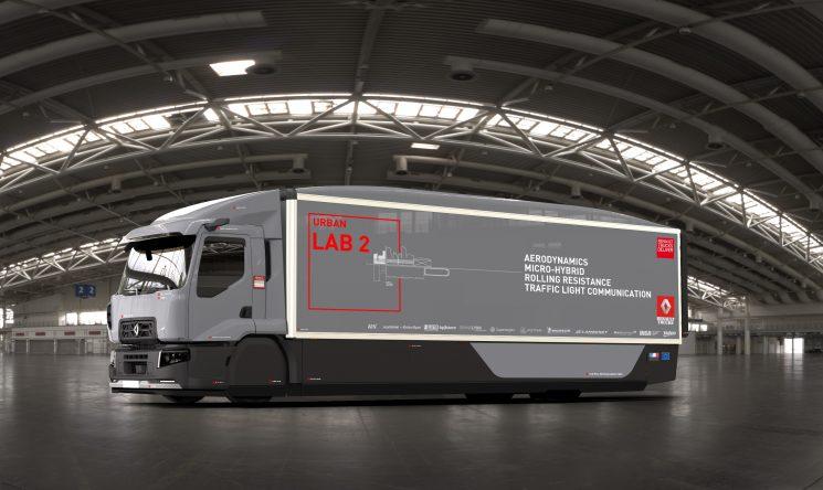 El Urban Lab 2 de Renault Trucks premiado en Solutrans por su contribución al ahorro de combustible.