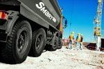 Hankook equipa de serie los camiones de obras de Scania