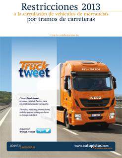 Restricciones a la circulación 2013 para camiones