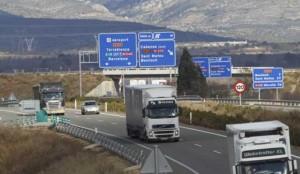 Prohibición circulación camiones N-340