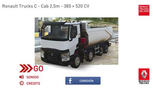 Trucksimulator, conduce un Renaul Truck desde el móvil