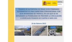 Tramos de carreteras convencionales afectados por el peaje