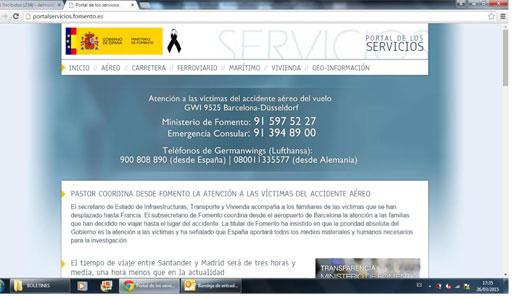 Portal de servicios de Fomento