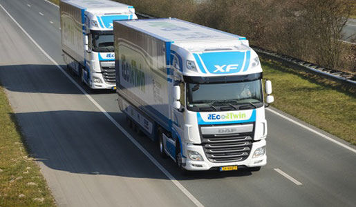 DAF insiste en la necesidad de avanzar en el platooning o conectividad entre camiones