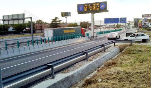 Fomento ha propuesto un presupuesto de 45 millones para un plan de desvio de camiones a las autopistas de peaje.