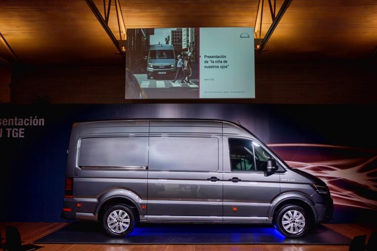 MAN ha presentado la nueva furgoneta TGE, la niña de sus ojos, en el corazón de Madrid.