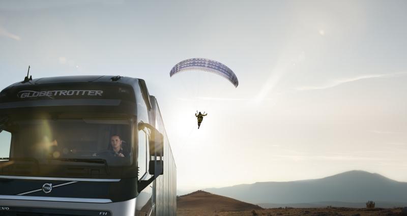 The flying passenger es el nuevo video de Volvo Trucks sobre la caja de cambios I-Shift.