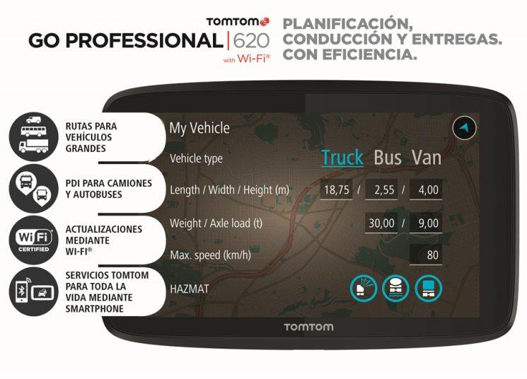 TomTom lanza GO PROFESSIONAL para conductores de camión, autobús y furgoneta.