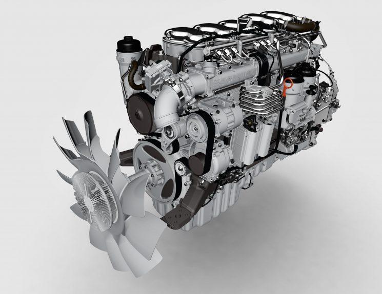 Nuevos motores Scania DC09 de cinco cilindros