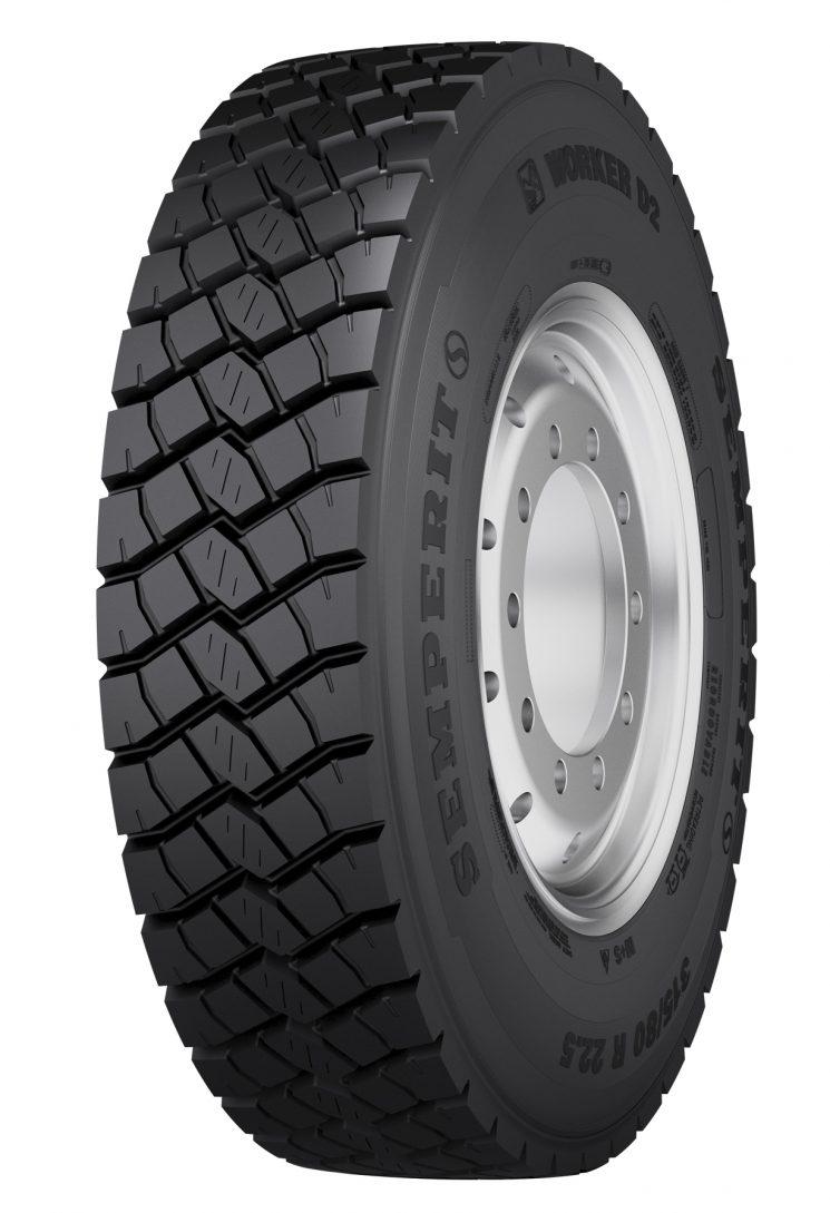 Nuevo neumático para la construcción de Semperit para eje de tracción