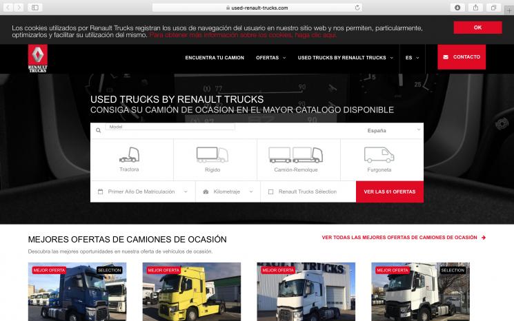 Renault Trucks pone en marcha una web de vehículos de ocasión