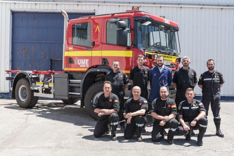 Scania forma a los miembros de la UME encargados de luchar contra los incendios forestales