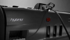 Scania presenta su camión eléctrico híbrido enchufable en la IAA de Hannover.