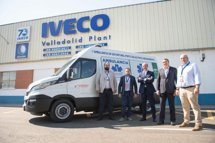 Iveco entrega la primera Daily de gas natural para su uso como ambulancia en Europa.