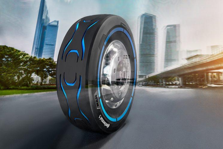 Continental desarrolla un prototipo de neumático para el camión eléctrico de MAN CitiE