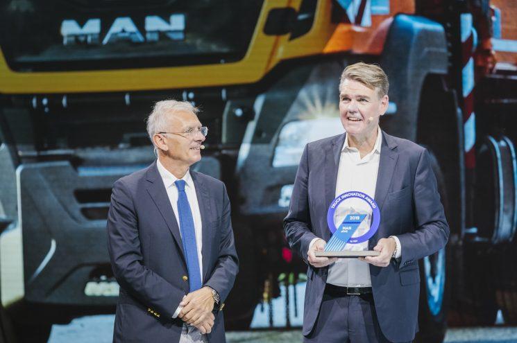 El proyecto aFAS de MAN recibe el premio a la innovación tecnológica en la IAA 2018.