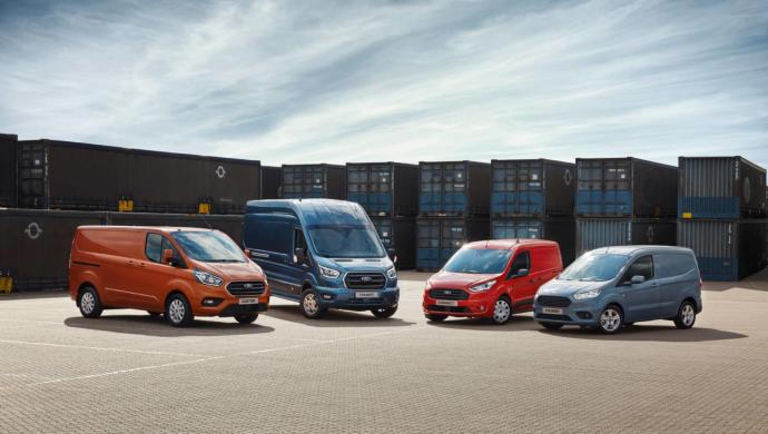 Ford es líder europeo en vehículos comerciales en 2018.