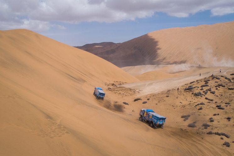 Kamaz ha iniciado el Dakar 2019 como favorito y lo ha venido demostrando las cinco primeras etapas, aunque la expulsión de Karginov y otros inconvenientes están complicando las cosas al equipo ruso.