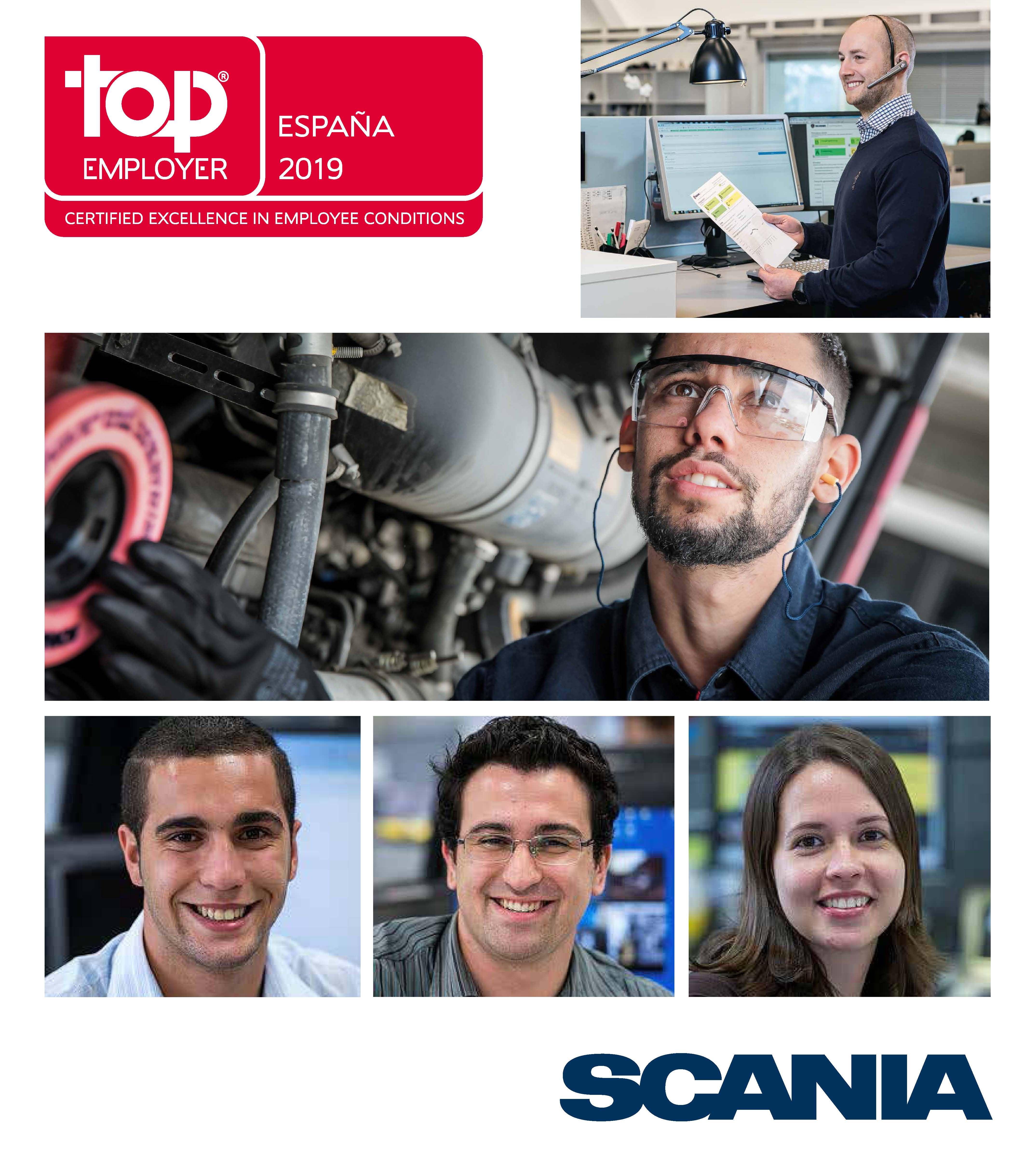 Scania reconocida por cuarto año como empresa Top Employer