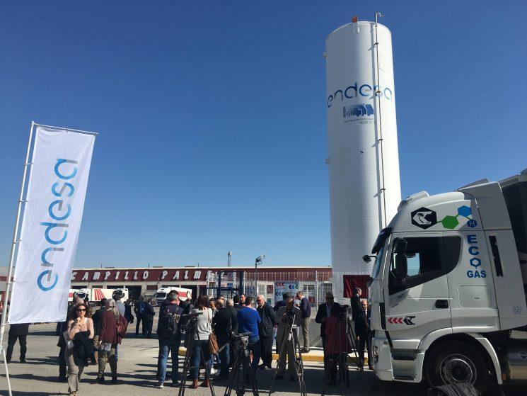 Endesa ha inaugurado una estación de gas natural vehicular en Murcia.