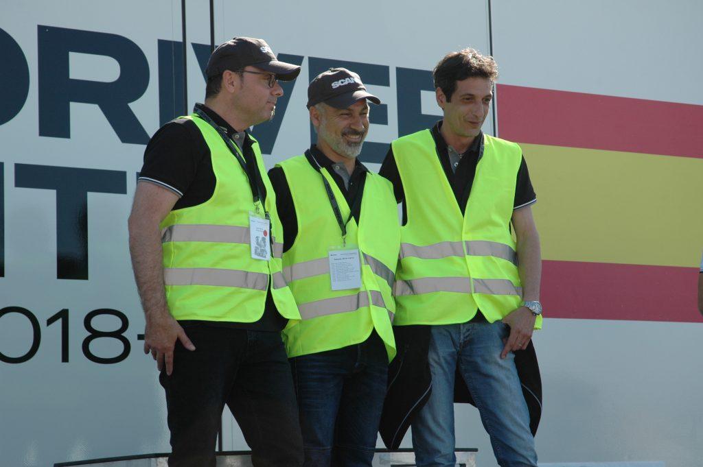 Los tres finalistas que viajarán a Suecia, Juan Carlos Anaya, segundo, Juan Romeral, primero, y Joaquín Ferreruela, tercero. El ganador a disputar la final y los otros dos, como reservas, pero sobre todo a disfrutar y a animar.
