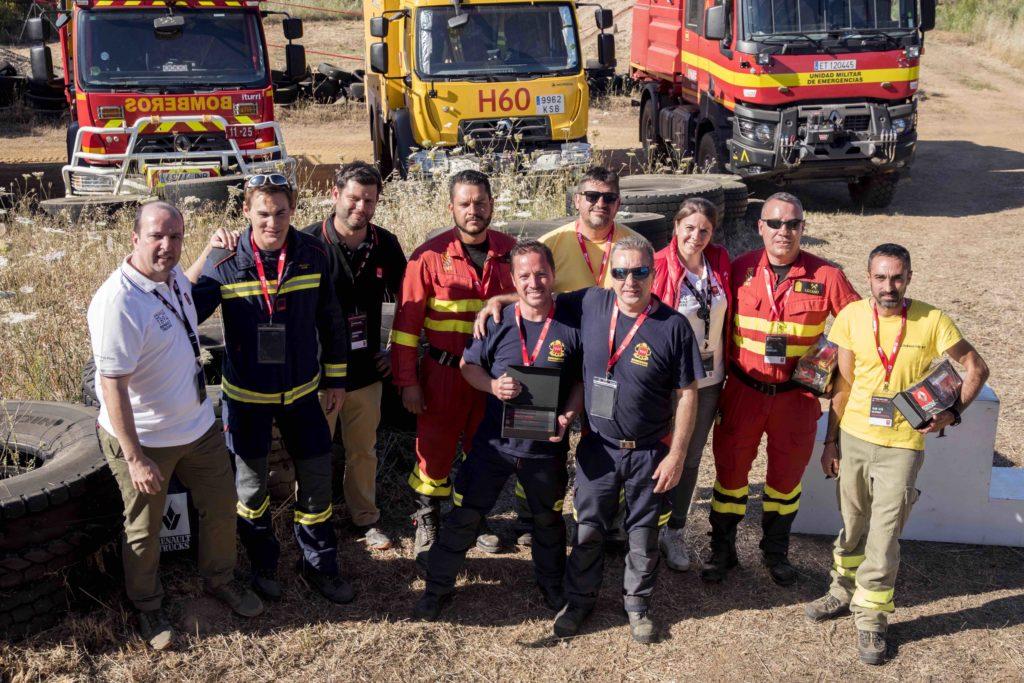 Los ganadores del primer Campeonato Nacional de Bomberos Forestales de Renault Trucks.