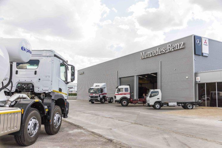 El Grupo Polaina inaugura un nuevo taller autorizado de Mercedes-Benz Trucks en Arganda.