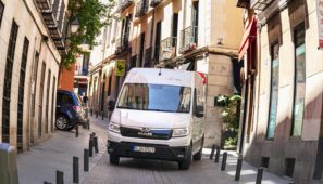 MAN Truck&Bus Iberia presenta su furgoneta 100% eléctrica eTGE en Madrid.