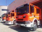 Bomberos de Valencia incorpora 11 vehículos contra-incendios Scania