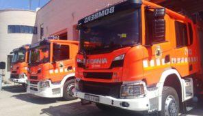 El Consorcio Provincial de Bomberos de Valencia incorpora 11 nuevos vehículos contra incendios de Scania.