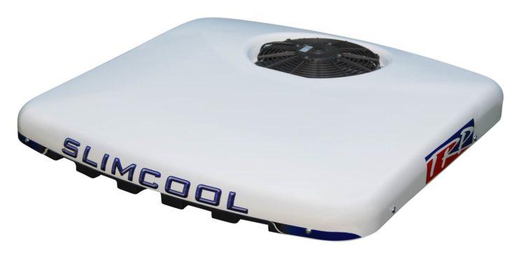 El equipo autónomo de aire acondicionado de TRP, SlimCool, puede instalarse en vehículos con limitaciones de altura al ser de diseño compacto.