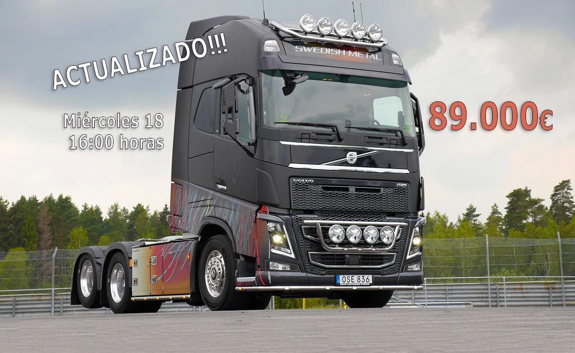 La subasta del Volvo Swedish ya está en 89.000 euros.Metal