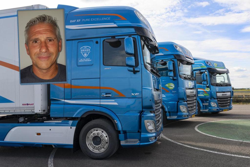 Este fin de semana se celebra en Luxemburgo la final internacional de Conductor de Camión del Año de DAF, en la que Enrique Sánchez Parrondo (en la foto) representa a España.