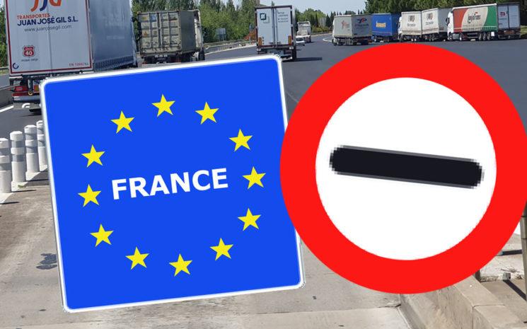 Francia restablece las restricciones a la circulación de camiones a partir del sábado 25 de abril.