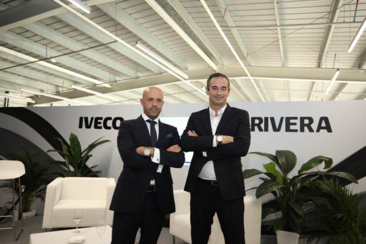 Iveco acaba de inaugurar nuevas instalaciones en Las Palmas de Gran Canaria, con la presencia de Ruggero Mughini, director general de Iveco España y Portugal, a la derecha de la foto.