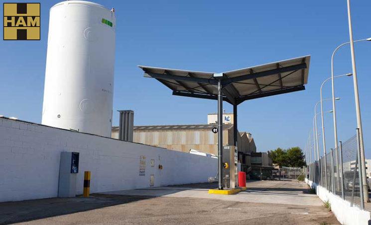 HAM acaba de inaugurar una nueva gasinera en Valencia, en Massalfassar, junto a las instalaciones de la empresa de transporte Delgo.