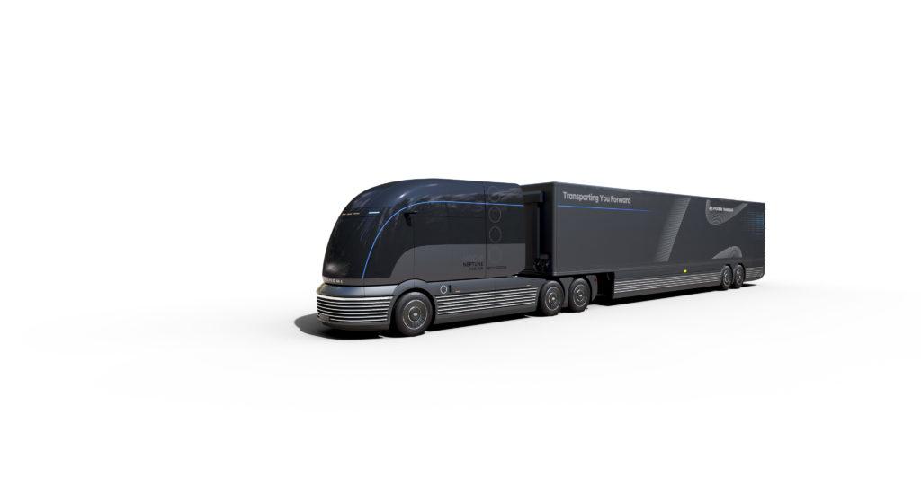 Hyundai apuesta por el hidrógeno para el transporte pesado de larga distancia con la presentación de un prototipo de camión, el HDC-6 Neptune Concept.