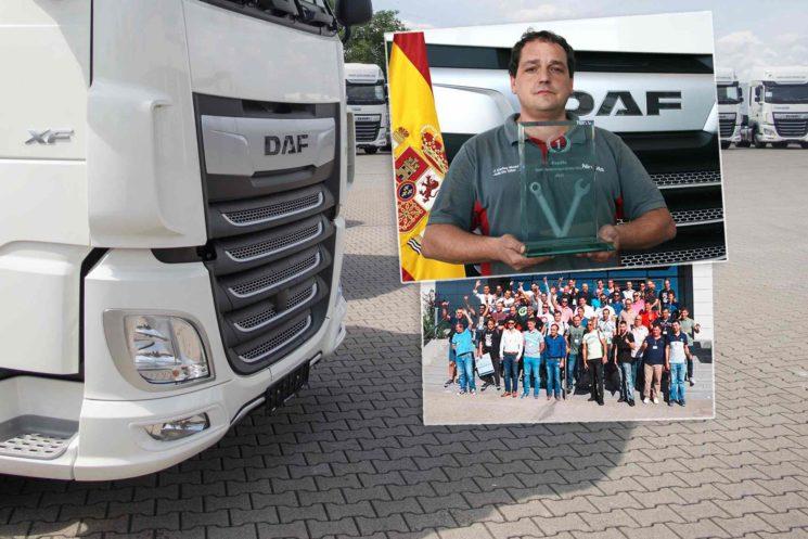 DAF ha seleccionado al Técnico del Año 2019, título que en esta edición ha ganado Juan Carlos Millán Navarro, del concesionario oficial Nirvauto Murcia, ubicado en Totana.