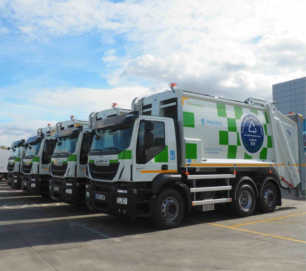 Madrid ha incorporado 36 nuevos IVECO Stralis de gas natural comprimido para labores de recogida de residuos en la ciudad.